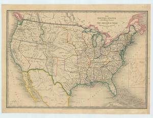 Primary view of object titled 'The United States & the Relative Position of the Oregon & Texas'.