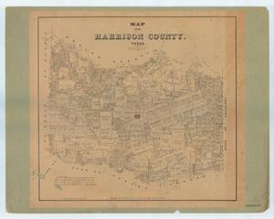 Map of Harrison County, Texas.