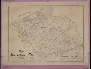 Map of Burleson County, Texas.
