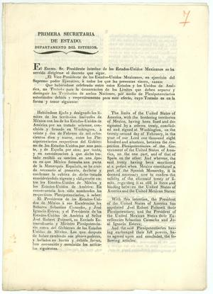Primary view of object titled '[Document Regarding the Treaty of Limits]'.