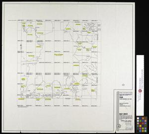 Primary view of object titled 'Flood Insurance Rate Map: Dallas County, Texas (Unincorporated Areas), Map Index.'.