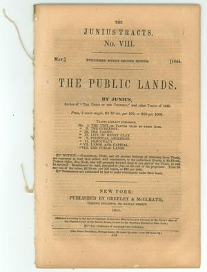 Primary view of object titled 'The Public Lands'.