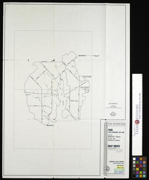 Primary view of object titled 'Flood Insurance Rate Map: City of Rowlett, Texas, Dallas and Rockwall Counties, Map Index.'.