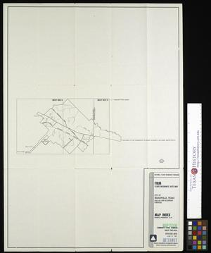 Primary view of object titled 'Flood Insurance Rate Map: City of Seagoville, Texas, Dallas and Kaufman Counties, Map Index.'.