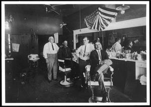 Primary view of object titled 'Newt Harris Barber Shop, Richardson, Texas'.