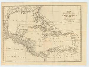 "Primary view of object titled '""A Map of the West Indies and Middle Continent of America from the latest observations by John Blair L.L.D. & F.R.S. as a Supplement to his Tables of Chronology.""'."