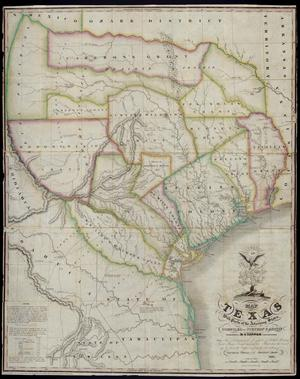 "Primary view of object titled '""Map of Texas with parts of the Adjoining States.Compiled by Stephen F. Austin.""'."