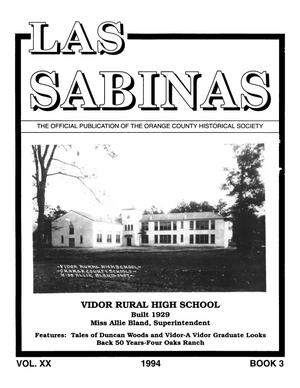 Primary view of Las Sabinas, Volume 20, Number 3, July 1994