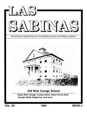 Las Sabinas, Volume 20, Number 4, October 1994
