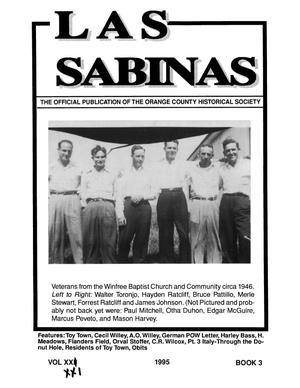 Las Sabinas, Volume 21, Number 3, July 1995
