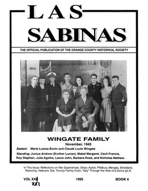 Las Sabinas, Volume 21, Number 4, October 1995