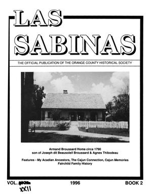Las Sabinas, Volume 22, Number 2, April 1996