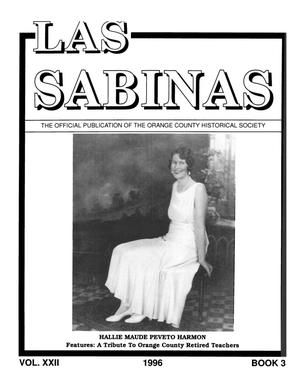 Las Sabinas, Volume 22, Number 3, July 1996