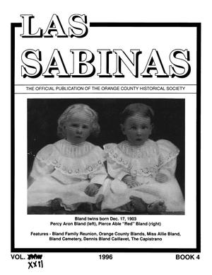 Las Sabinas, Volume 22, Number 4, October 1996