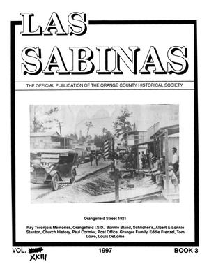 Las Sabinas, Volume 23, Number 3, July 1997