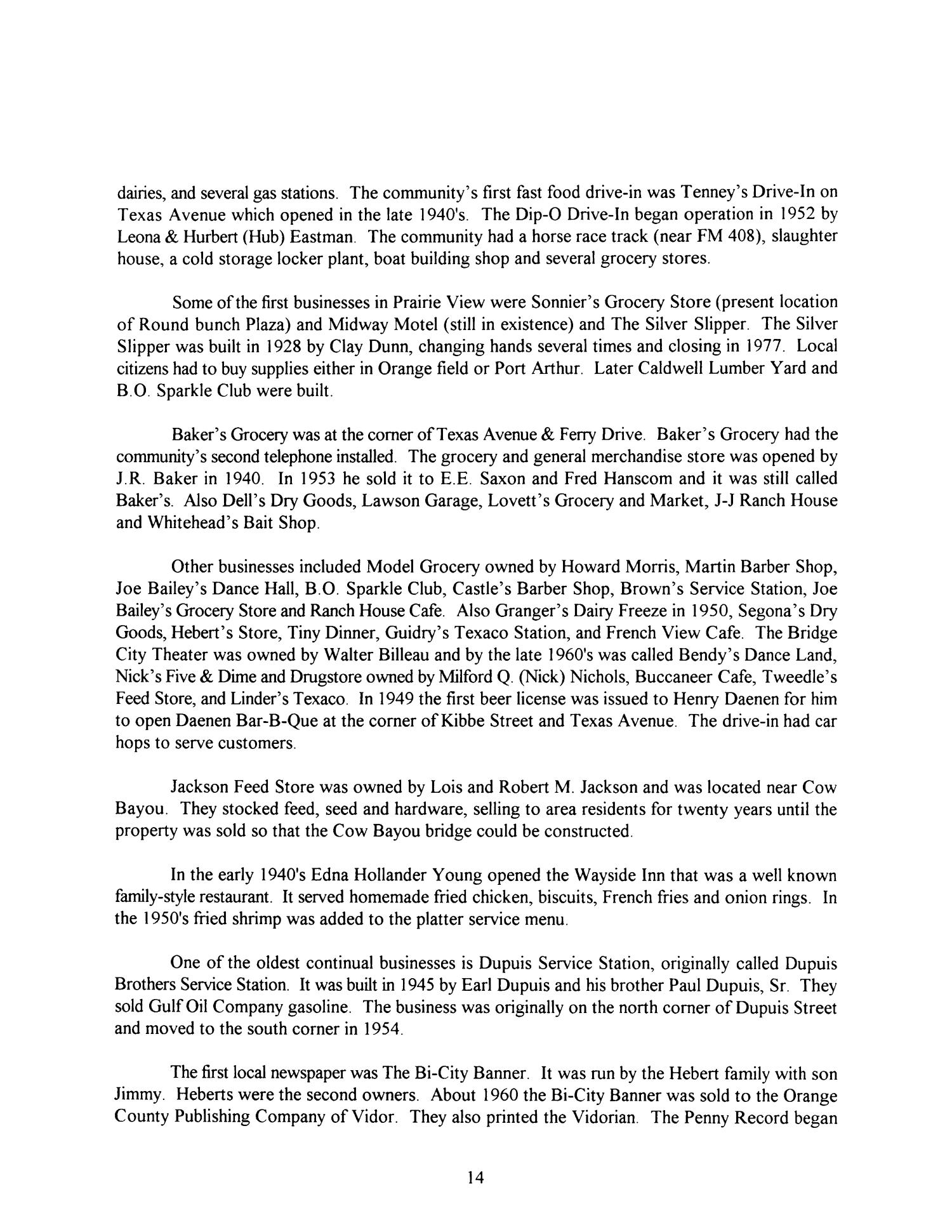 Las Sabinas, Volume 24, Number 1, January 1998   Page 14   The Portal To  Texas History