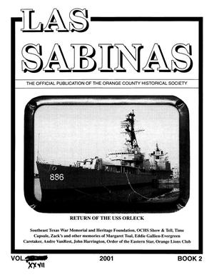 Primary view of object titled 'Las Sabinas, Volume [27], Number 2, 2001'.