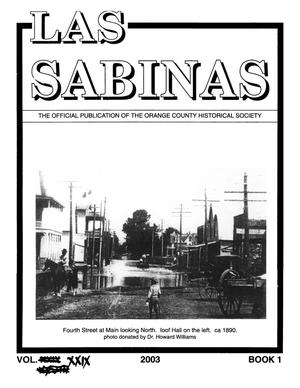 Las Sabinas, Volume 29, Number 1, 2003