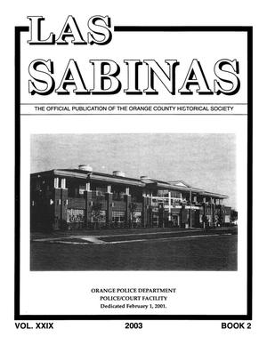 Las Sabinas, Volume 29, Number 2, 2003