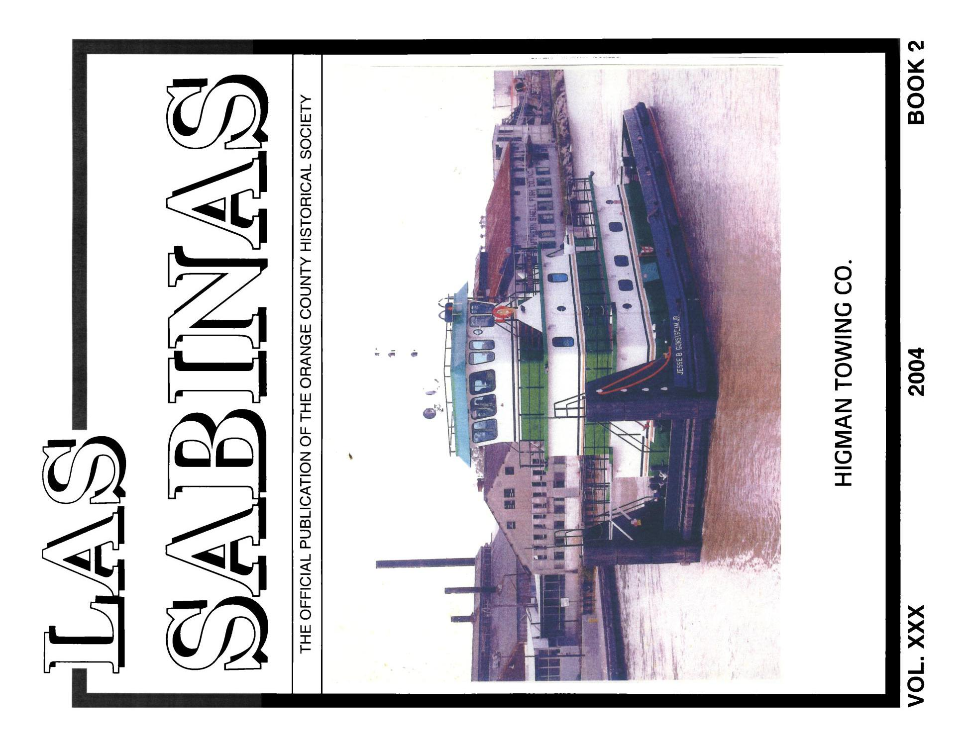 Las Sabinas, Volume 30, Number 2, 2004                                                                                                      Front Cover