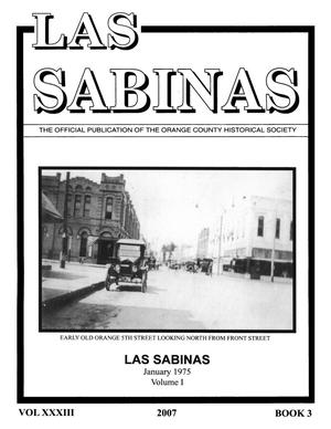 Primary view of object titled 'Las Sabinas, Volume 33, Number 3, 2007'.