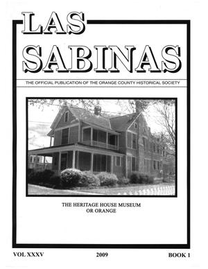Primary view of object titled 'Las Sabinas, Volume 35, Number 1, 2009'.