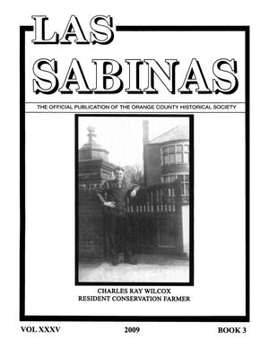 Las Sabinas, Volume 35, Number 3, 2009