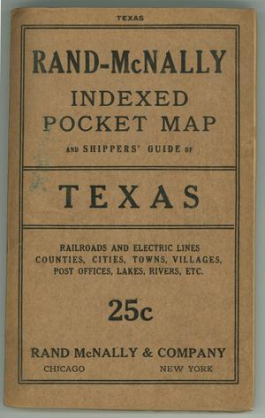 Primary view of object titled 'Rand-McNally Indexed Pocket Map and Shippers' Guide of Texas'.