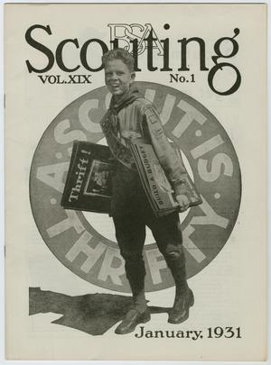 Primary view of Scouting, Volume 19, Number 1, January 1931