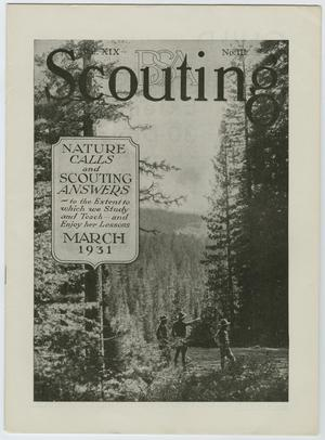 Primary view of object titled 'Scouting, Volume 19, Number 3, March 1931'.