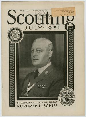 Primary view of object titled 'Scouting, Volume 19, Number 7, July 1931'.