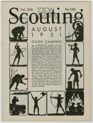 Primary view of Scouting, Volume 19, Number 8, August 1931