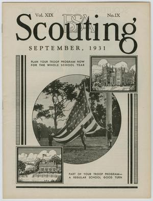 Primary view of Scouting, Volume 19, Number 9, September 1931