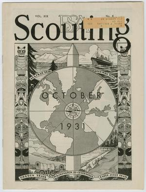 Primary view of object titled 'Scouting, Volume 19, Number 10, October 1931'.