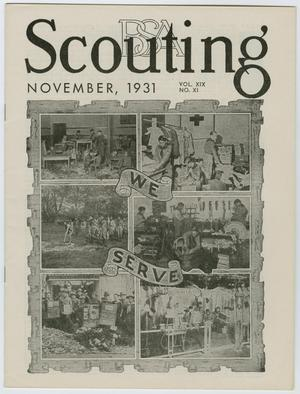 Primary view of object titled 'Scouting, Volume 19, Number 11, November 1931'.