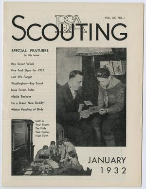Primary view of object titled 'Scouting, Volume 20, Number 1, January 1932'.