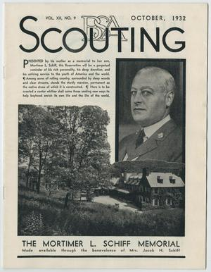 Primary view of object titled 'Scouting, Volume 20, Number 9, October 1932'.