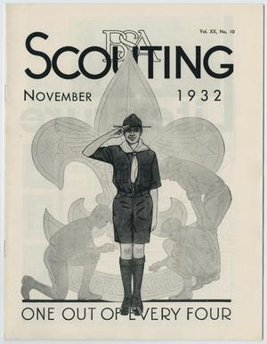 Primary view of object titled 'Scouting, Volume 20, Number 10, November 1932'.