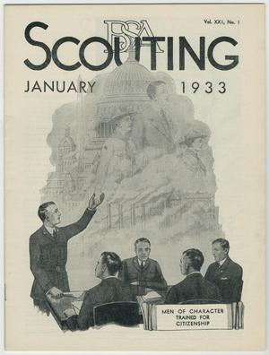 Primary view of object titled 'Scouting, Volume 21, Number 1, January 1933'.