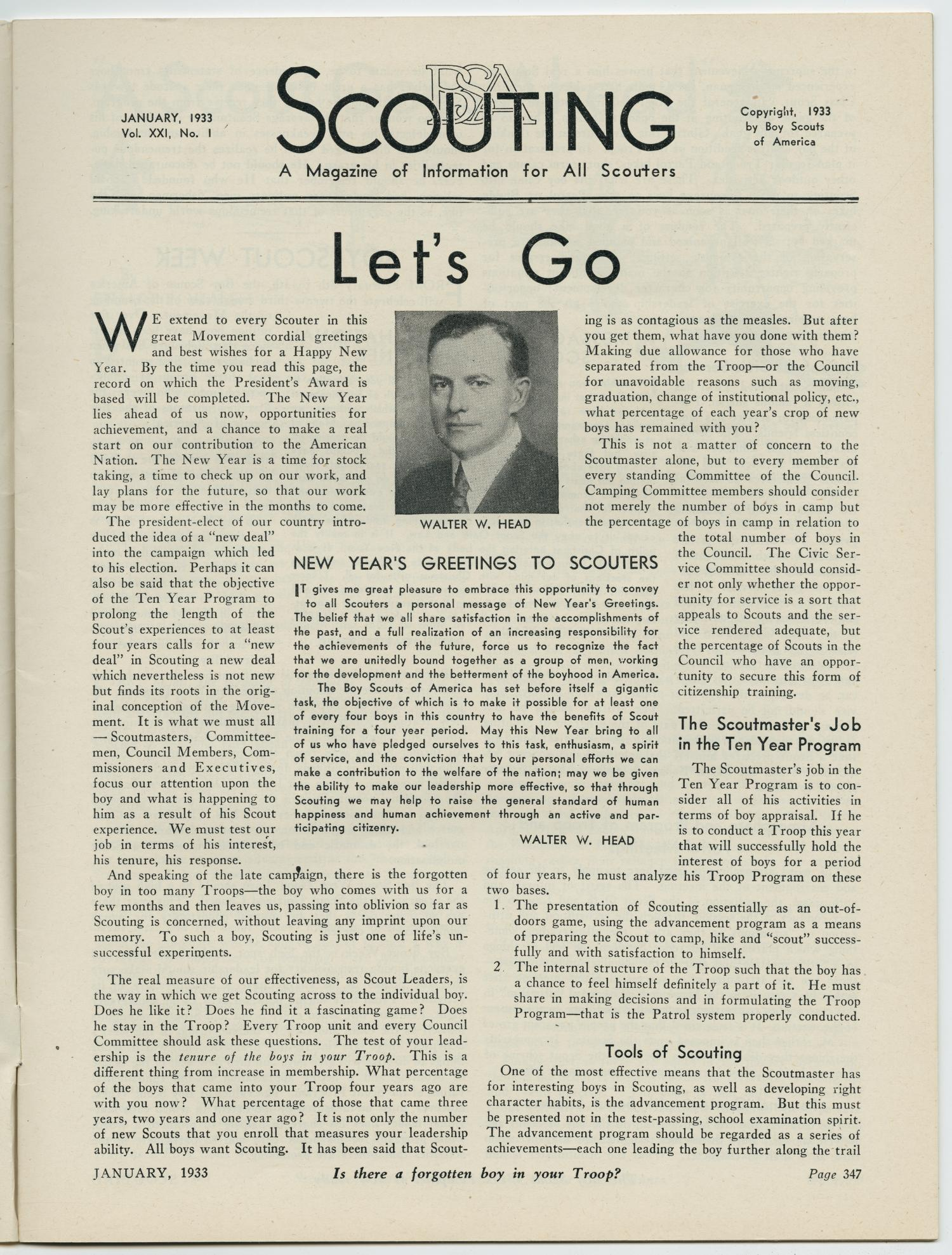 Scouting, Volume 21, Number 1, January 1933                                                                                                      347