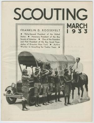 Primary view of object titled 'Scouting, Volume 21, Number 3, March 1933'.