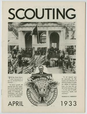 Primary view of object titled 'Scouting, Volume 21, Number 4, April 1933'.