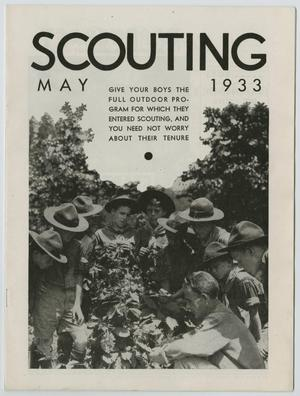 Primary view of object titled 'Scouting, Volume 21, Number 5, May 1933'.