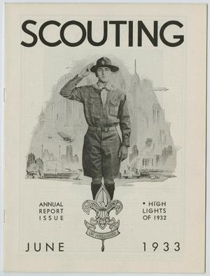 Primary view of object titled 'Scouting, Volume 21, Number 6, June 1933'.