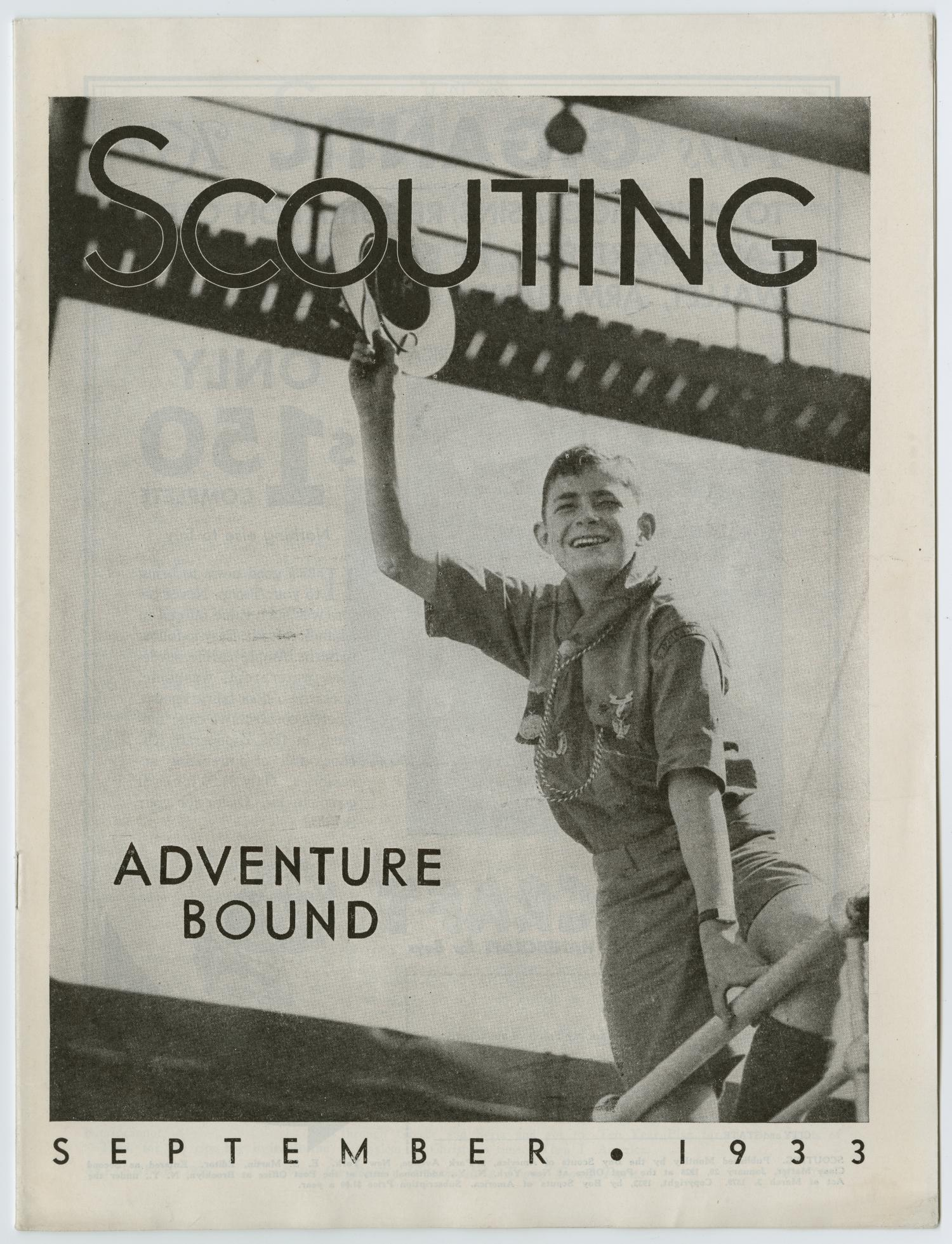 Scouting, Volume 21, Number 8, September 1933                                                                                                      1