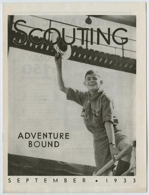 Primary view of object titled 'Scouting, Volume 21, Number 8, September 1933'.