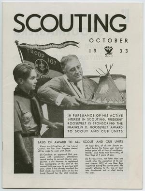 Primary view of object titled 'Scouting, Volume 21, Number 9, October 1933'.