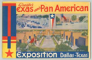 Primary view of object titled 'Texas Centennial and...Dallas Exposition'.