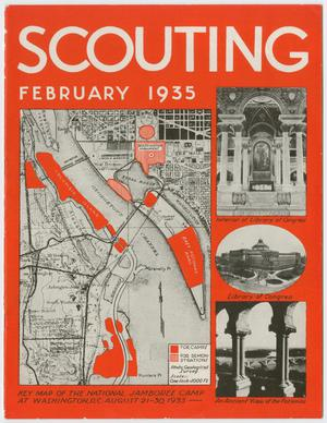 Primary view of object titled 'Scouting, Volume 23, Number 2, February 1935'.