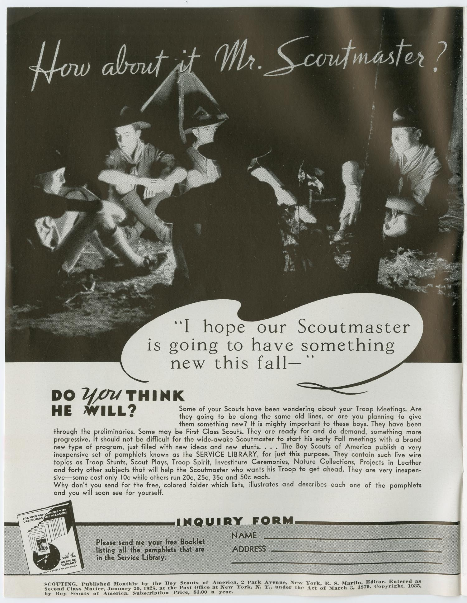 Scouting, Volume 23, Number 9, October 1935                                                                                                      2
